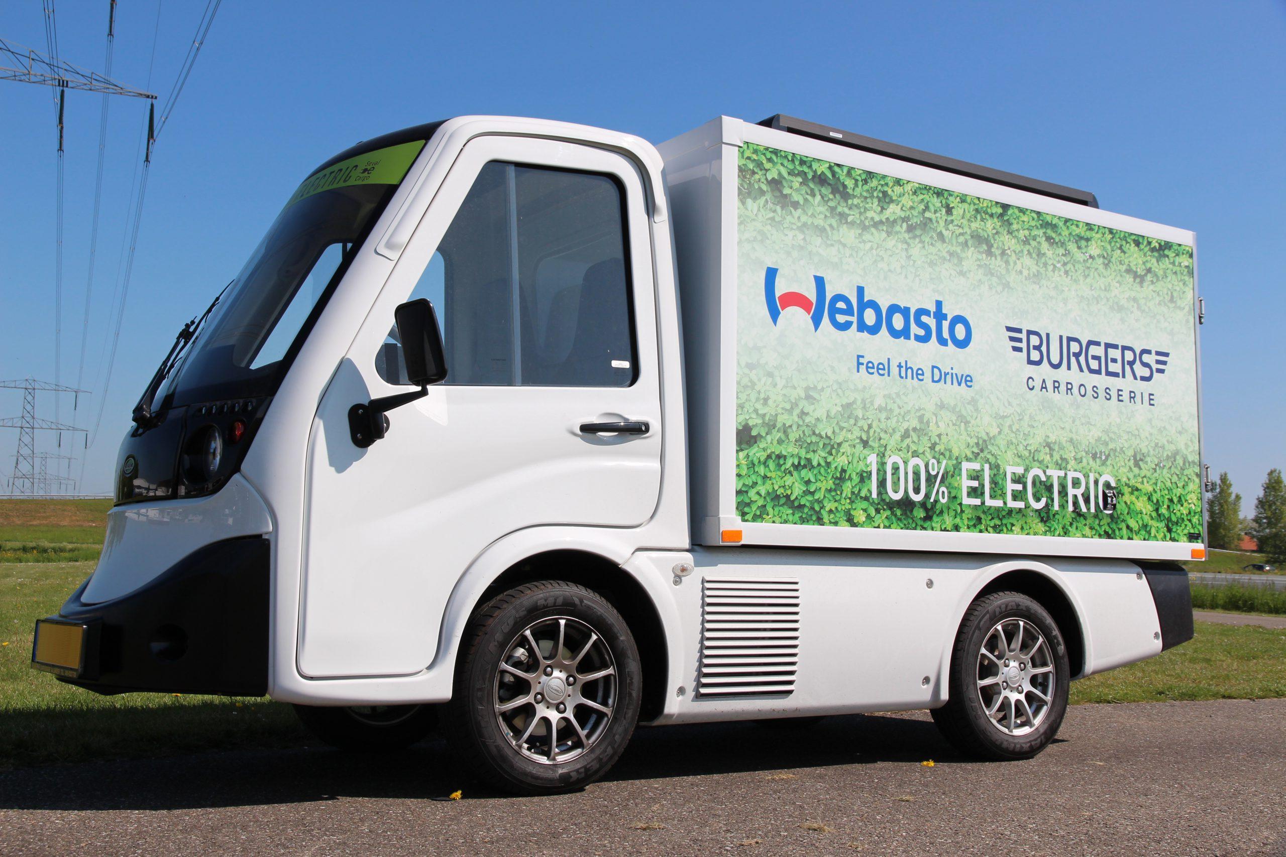 Elektrische bestelwagen met koeling